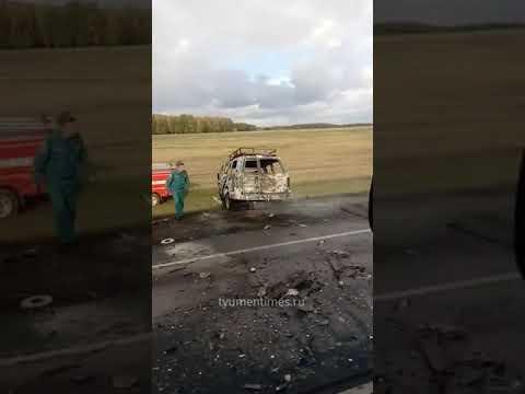 Столкнулись два внедорожника. ДТП Тюмень – Омск, 24.09.2020 Последствия
