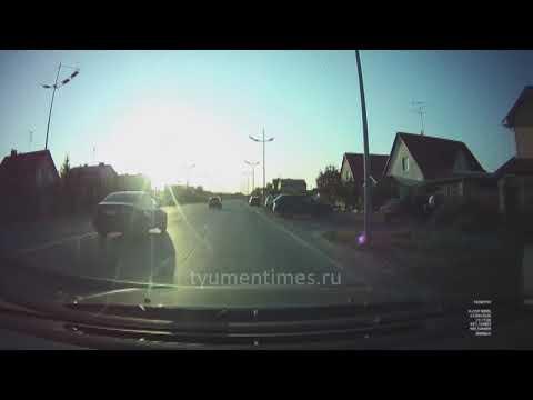 Ваз протаранил забор. ДТП Тюмень Комарово 27.09.2020